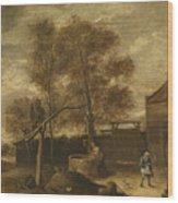 In The Farmyard  Wood Print