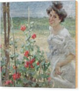 In The Flower Garden, 1899 Wood Print