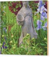 In The Flower Garden Wood Print