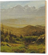 In The Foothills Of The Rockies Wood Print by Albert Bierstadt