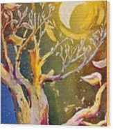 In The Forest Of The Night Wood Print
