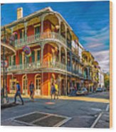 In The French Quarter - 2 Paint Wood Print
