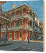 In The French Quarter - 3 Wood Print