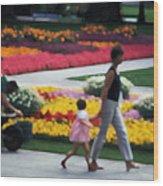 In The Garden Of Monet Wood Print