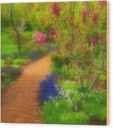 In The Gardens Wood Print
