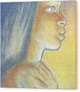 In The Glow Wood Print