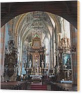 In The Gothic-baroque Church Wood Print