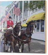In The Grand Mackinac Manner Wood Print