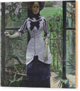 In The Greenhouse Wood Print by Albert Bartholome