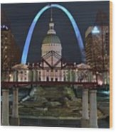In The Heart Of St Louis Wood Print