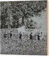 In The Heat Of Battle - Gettysburg Pa Wood Print