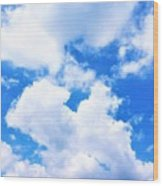 In The Heavens Above Wood Print