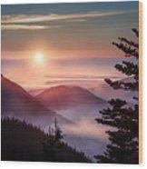 In The Heavens Wood Print