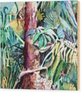 In The Jungle Wood Print