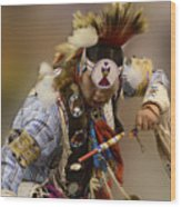 Pow Wow In The Moment Wood Print