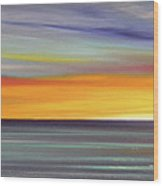 In The Moment Panoramic Sunset Wood Print by Gina De Gorna