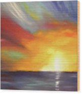 In The Moment - Vertical Sunset Wood Print
