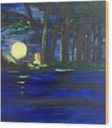 In The Moonlight Wood Print
