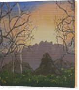 In The Mountains Wood Print