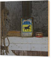 In The Old Horse Barn Wood Print