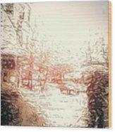 In The Rain Wood Print