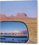 In The Rear View Mirror 2 Wood Print