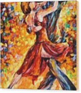 In The Rhythm Of Tango Wood Print
