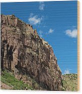 In The Royal Gorge Wood Print