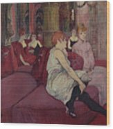 In The Salon At The Rue Des Moulins Wood Print
