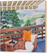 In The Shade Wood Print by Denise H Cooperman
