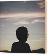 In The Shadow Of Sunrise. Wood Print