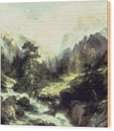 In The Teton Range Wood Print