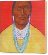 In The Time Of Crazy Horse Wood Print