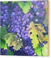 In The Vineyard Wood Print