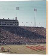 In This Vintage 1955 Photo The University Of Texas Longhorn Band Wood Print