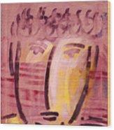 Inca Head Wood Print