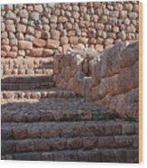 Inca Steps At Chinchero  Wood Print
