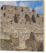 Inca Stone Ruins Wood Print