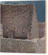 Inca Structure Wood Print