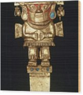 Incan Gold Ornament Wood Print