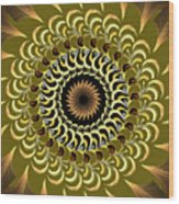 Incendia Kaleidoscope Wood Print