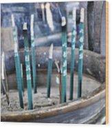 Incense In Nara Wood Print
