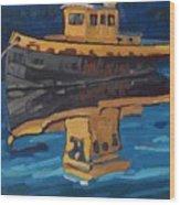 Incognito Tug Wood Print