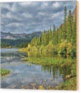 Incoming Storm At Twin Lakes Wood Print
