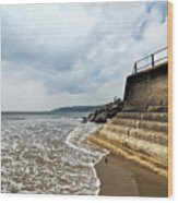 Incoming Tide - Charmouth Wood Print