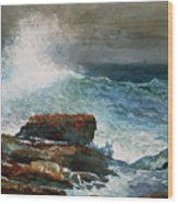 Incoming Tide Scarboro Maine Wood Print