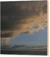 Incoming Weather Wood Print