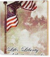 Independence Day Usa Wood Print