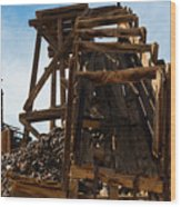 Independence Gold Mine Ruins Wood Print