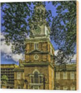 Independence Hall-philadelphia Wood Print